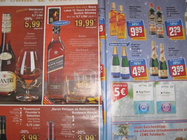 JOHNNY WALKER DEALZ Rewe Red Label 9.99 EURO //Netto  Black Label 19.99 EURO --