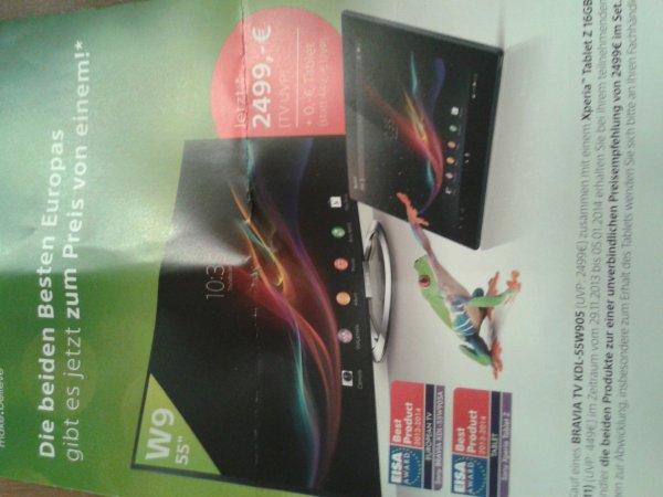 Sony led 55 zoll w905 + sony tablet 16 gb