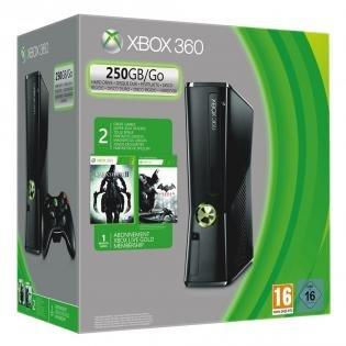Microsoft Xbox 360  250GB + Batman: Arkham City + Darksiders 2 für 184€ @ redcoon.de