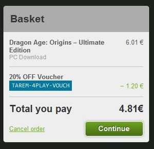 [GreenManGaming] Dragon Age Origins Ultimate Edition - Origin Key - €4,81