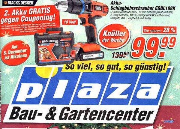 (Offline Plaza)  Black und Decker Akkuschlagbohrschrauber 18 Volt EGBL 188K