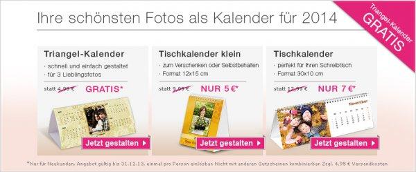 gratis Fotokalender 2014 + 4,95€ VSK bei Fotokasten für Neukunden