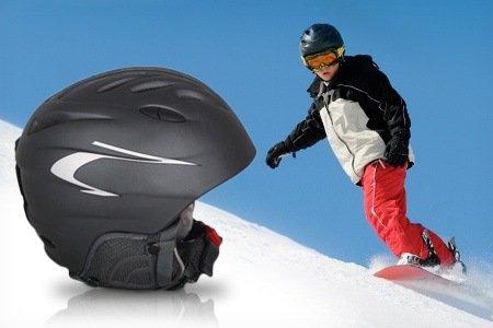 @ Groupon Ski- und Snowboardhelm für Kinder oder Jugendliche in Schwarz mit verstellbarer Größenanpassung