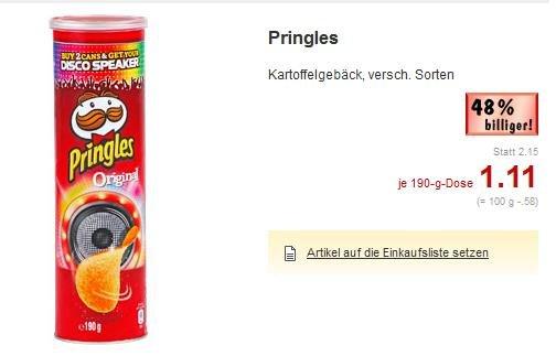 (Kaufland - Süddeutschland) Pringles inkl Videobuster Gutschein für 1,11 Euro