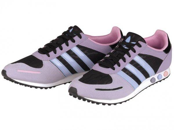 adidas Damen/LAdy-Schuhe L.A. Trainer Sleek (schwarz/purple) € 39,94 @ lidl.de