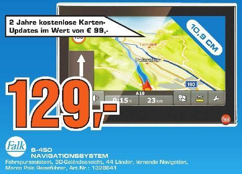 Saturn Tübingen: Falk S450 Navi mit 2 Jahren Map-Updates für 129€ (PVG 149€) und andere gute Preise