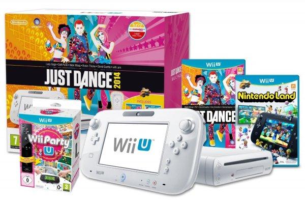 Nintendo Wii U 8GB + Just Dance + Nintendo Land + Wii U Party Pack für 250€ @Amazon UK