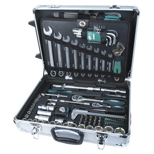 Brüder Mannesmann Alu Werkzeugtrolly 159-teilig für 134,05€@real.de