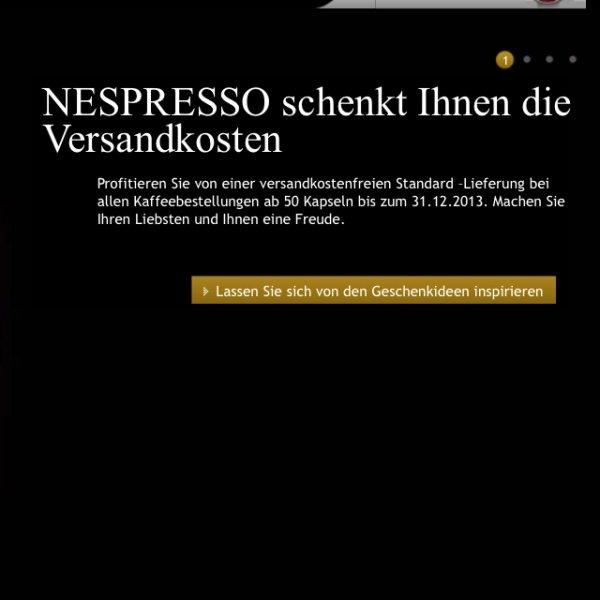Nespresso - versandkostenfrei ab 50 Kapseln