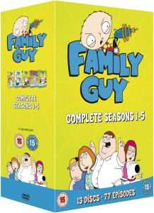 (UK) Family Guy - Season 1-5 [13 x DVD] für  €24.79 @ Zavvi (O-Ton)