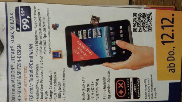 Medion lifetab e 7312 7 zoll Tablet