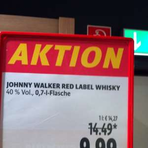 Johnny Walker Red Label Whisky für 9,99 anstatt 14,99 bei Tengelmann Mülheim