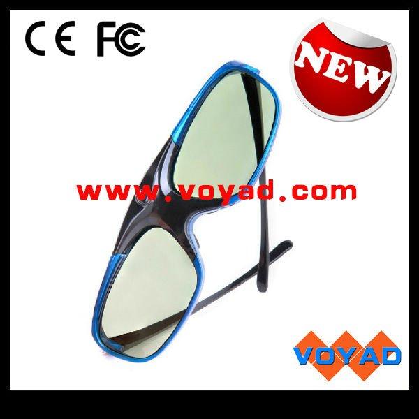 """2 x High-shock """"BLUE-HEAVEN"""" 3D Brillen für alle 3D DLP Projektoren mit Rotblitz (z.B. Benq W1070)"""