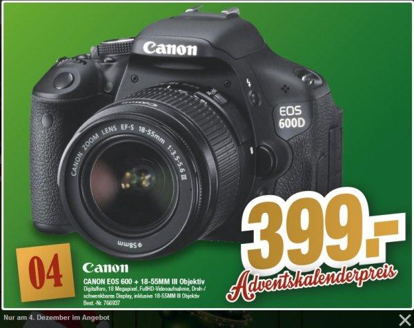 [Offline] Canon EOS 600D kit 18-55mm DC III Digitale Spiegelreflex