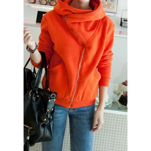 Stilvolle Oberbekleidung-Mantel mit Reißverschluss & Reverskragen für 30,99 Euro
