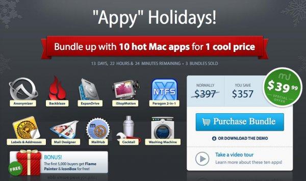 (MAC) Das Appy Holidays Bundle mit 10 Apps für nur 29,48 Euro - 263€ gespart