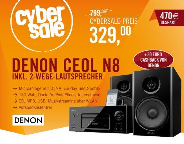 Denon CEOL N 8 für 329€ - Kompaktanlage @ Cyberport Cybersale + 30€ Cashback on top!