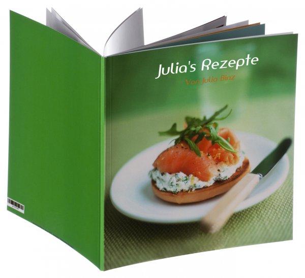 eigenes Kochbuch kostenlos (inkl. Versand)