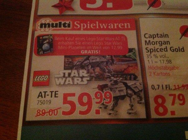 [Lokal Leer/Emden] Lego Star Wars AT-TE 75019 für 59,99 Euro inkl. Star Wars Mini-Planeten (12,99 Euro)