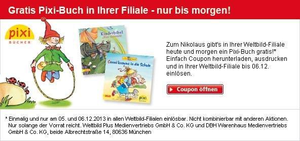 Pixi gratis bei Weltbild (offline)