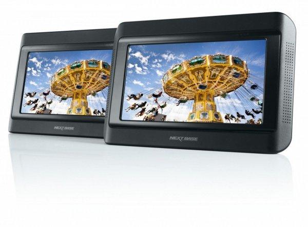 [AmazonWHD] Nextbase Click 9 Lite Duo tragbarer DVD-Player 22,8 cm (9 Zoll) mit 2 Bildschirmen inkl. Auto-Holmhalterung