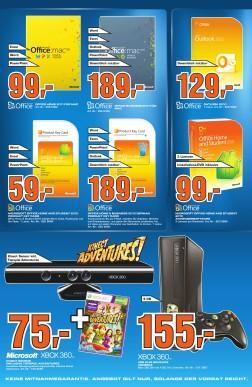 [Saturn Stuttgart] Kinect mit Spiel Adventures 75,- €