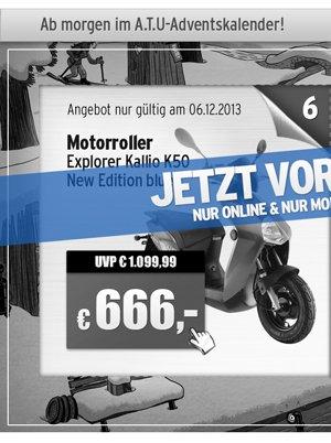 Roller / Motorroller Explorer Kallio K50 New Edition (ATU / A.T.U.)