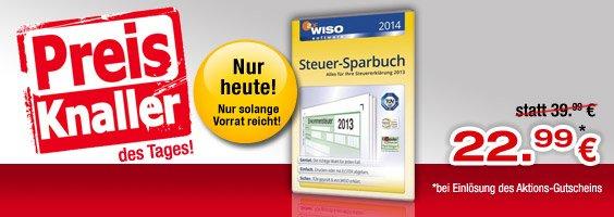 WISO Steuer-Sparbuch 2014 nur heute 5.12.2013 bei bücher.de für 22,99€