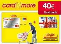 cardNmore: Dauerhaft beitragsfreies Karten-Doppel mit 30€ Startguthaben+ 40€ Cashback