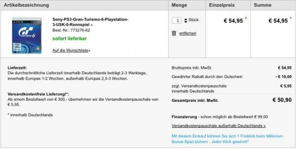 Gran Turismo 6 (PS3) für 45€