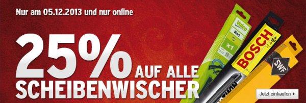 [A.T.U. Online ] 25% auf Scheibenwischer NUR heute