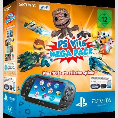 Offline Media Markt: PS Vita WiFi Mega Pack, incl. 8 GB + 10 Downloadspiele für 150 Euro