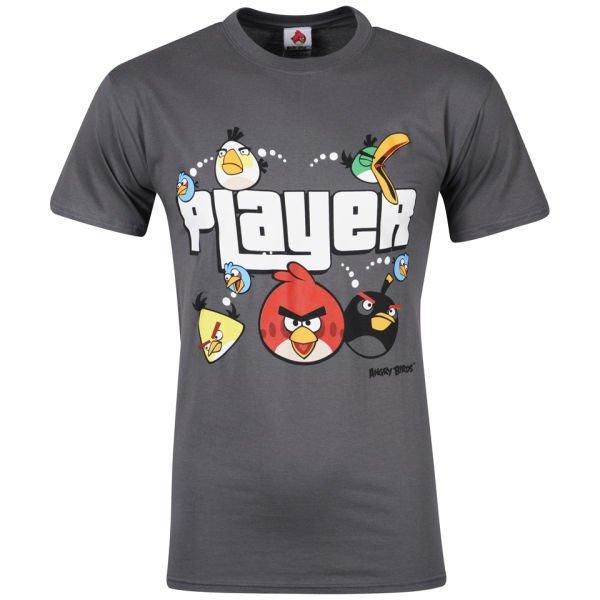 Angry Birds Men's Player T-Shirt Grau XL für 6€ @Zavvi