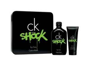 CALVIN KLEIN CK One Shock for Him 200ml Eau De Toilette + 100ml AfterShave Balsam @meinpaket.de
