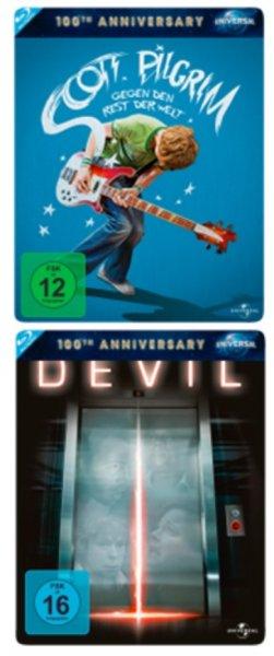 Media Markt online Adventskalender ab 20 Uhr: Scott Pilgrim & Devil Bluray Steelbooks je 5,00 € inkl. Versand