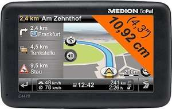 Navigationssystem MEDION® GoPal® E4470 EU+ (B-Ware) für 80,90 € inkl. Versand