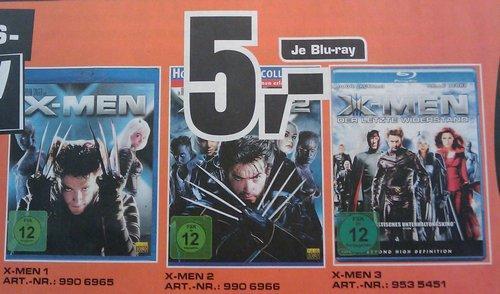 [offline, lokal Berlin?] Saturn X-Men 1-3 Blu-Ray für je 5 €, nur am 11.06.!
