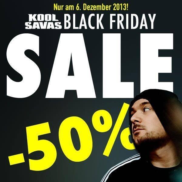 Nur heute 50% bei Kool Savas Shop @ Black Friday