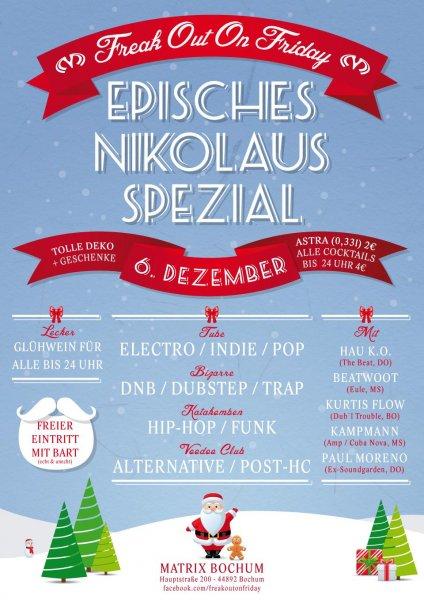 [BOCHUM] #foof Nikolaus Spezial mit kostenlosem Glühwein bis 0 Uhr, Geschenken und freiem Eintritt mit Bart (auch unecht)!