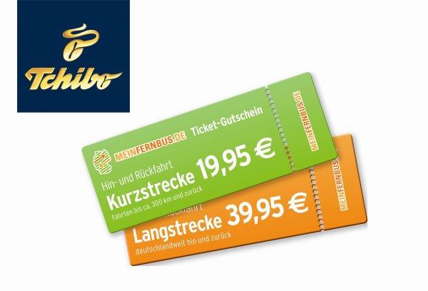 Tchibo MeinFernbus Gutscheine [Hin- und Rückfahrt für 19,95 €  / 39,95 €]