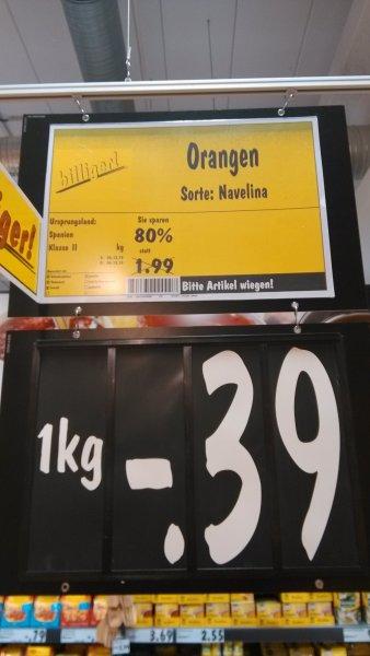 [Kaufland Berlin]  Orangen Kg 0.39 €