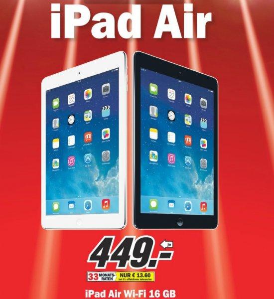 iPad Air 16GB WiFi 449€ Lokal [Mediamarkt Schwäbisch Gmünd]