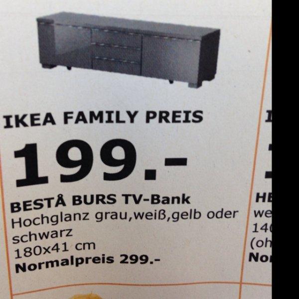 [lokal] Ikea Kamen Besta Tv Bank 199€ (mit Family Card) anstatt 299€