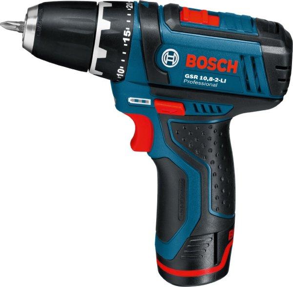 (eBay WOW ab 8:00 Uhr) Bosch GSR 10.8-2-Li mit 2 x 1,5 Ah Akku und 39-tlg. Zubehör