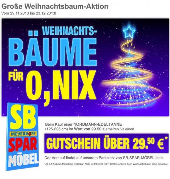 [LOKAL Osterholz-Scharmbeck]:  Nordmanntanne f. 29,50 EUR in Form vom Gutschein