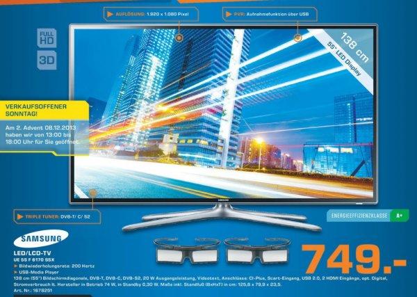 Samsung UE55F6170 SSXZG 749€ Lokal Verkaufsoffener Sonntag[Saturn Gummersbach]