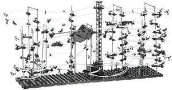 Playtastic Professionelle Kugel-Achterbahn, 682-teiliger Mega-Bausatz @ebay 29,99€