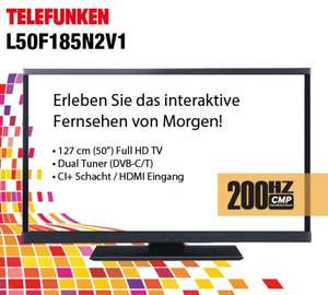 "Telefunken L50F185N2V1 127cm 50"" LED Fernseher Smart TV Full HD DVB-T/C 200 Hz  @ebay 444€"