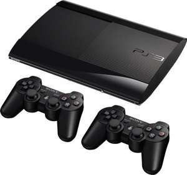 PS3 Super Slim 12 GB + 2x Controller @ Amazon