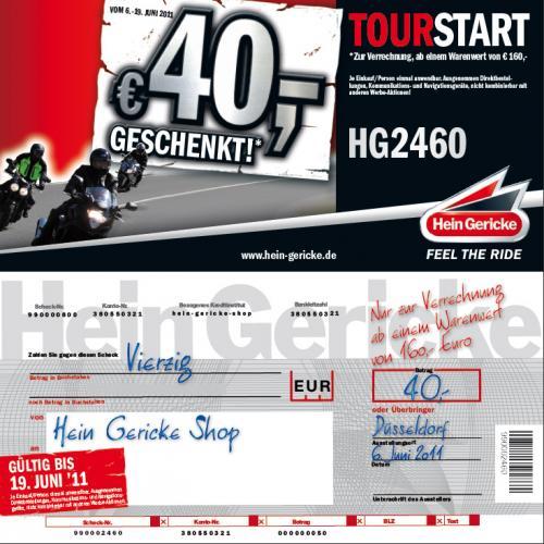 40€ Rabatt ab 160€ Umsatz bei Hein Gericke (Motorradgedöns) on- und offline